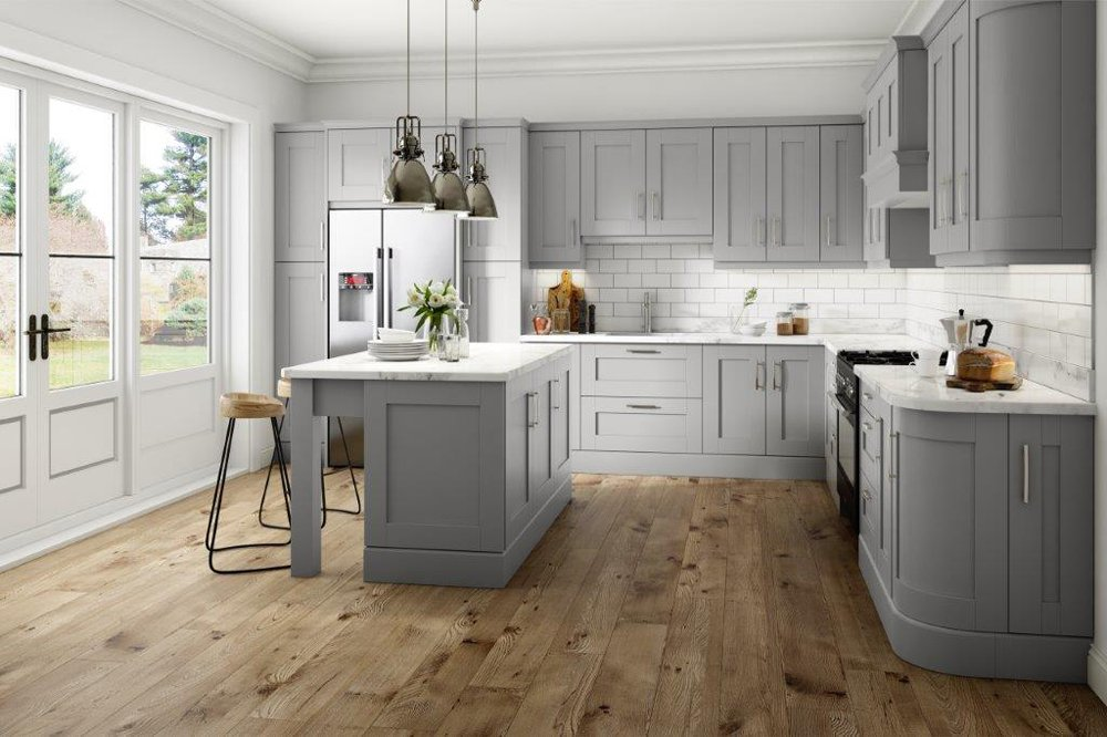Wood Painted Kitchen Doors - Made To Measure - Replacement ...