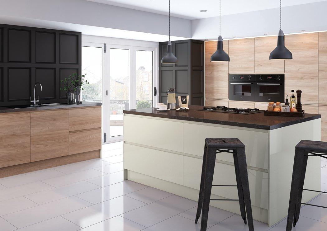 Pronto Malton Natural Elm Kitchen