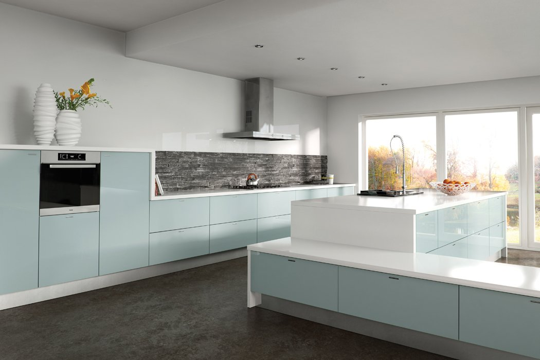 Zurfiz Metallic Blue Kitchen