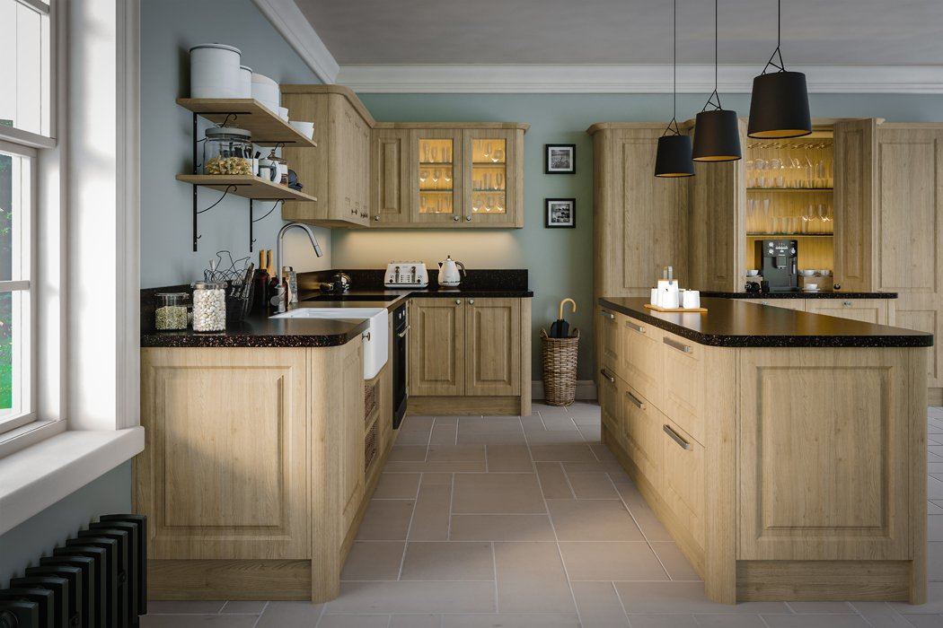 Tortona Natural Oak Tuscany Kitchen