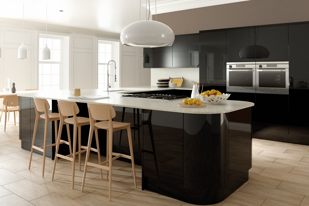Zurfiz Ultragloss Black Kitchen