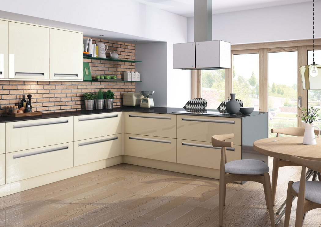 Zurfiz Ultra Gloss Mussel Kitchen