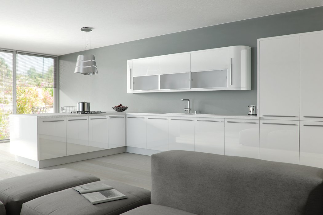 Zurfiz Ultra Gloss White Kitchen