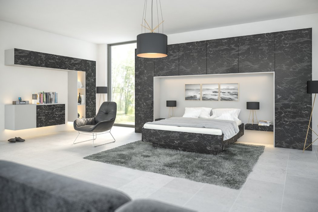 Zurfiz Oriental Black Bedroom