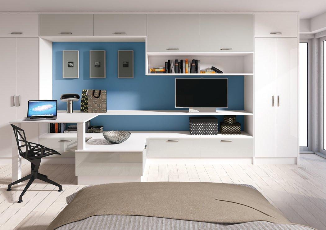 Zurfiz Ultragloss Light Grey Bedroom